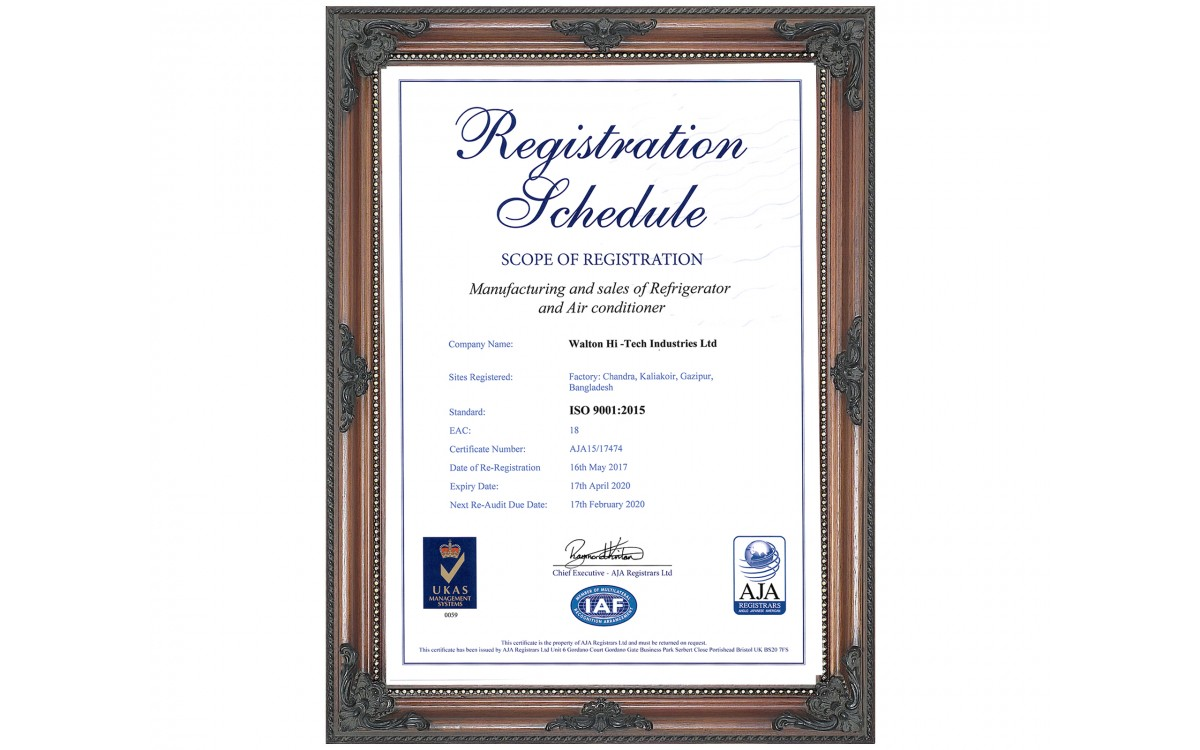ISO-9001-Refrigerators and Air Conditioner