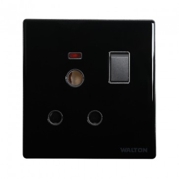 WC3PRS 3 PIN ROUND SOCKET WITH SWITCH